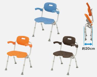 【介護 椅子】【介護用 風呂椅子】 パナソニックシャワーチェアー[ユクリア]ワイドSPワンタッチU型おりたたみNオレンジ/ブルー/モカブラウン 《入浴用品》