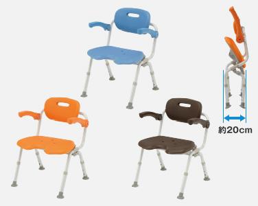 【介護 椅子】【介護用 風呂椅子】 パナソニックシャワーチェア[ユクリア]ワイドSP U型おりたたみNオレンジ/ブルー/モカブラウン 《入浴用品》