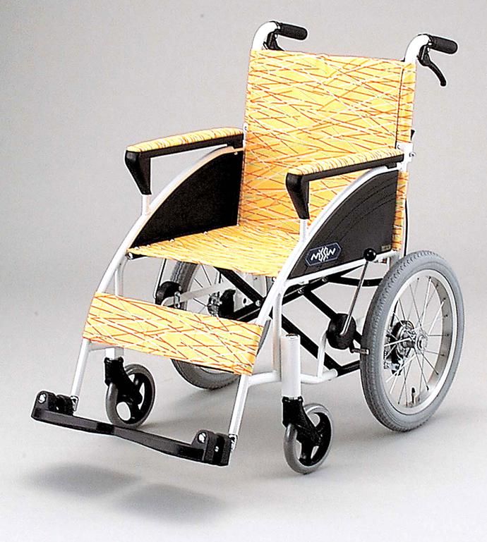 iR-H 日進医療器介助用車椅子 肘高さ調整 背折りたたみ