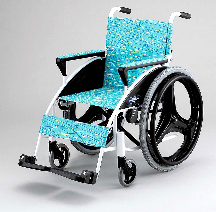 iR 日進医療器自走用車椅子 肘高さ調整 背折りたたみ