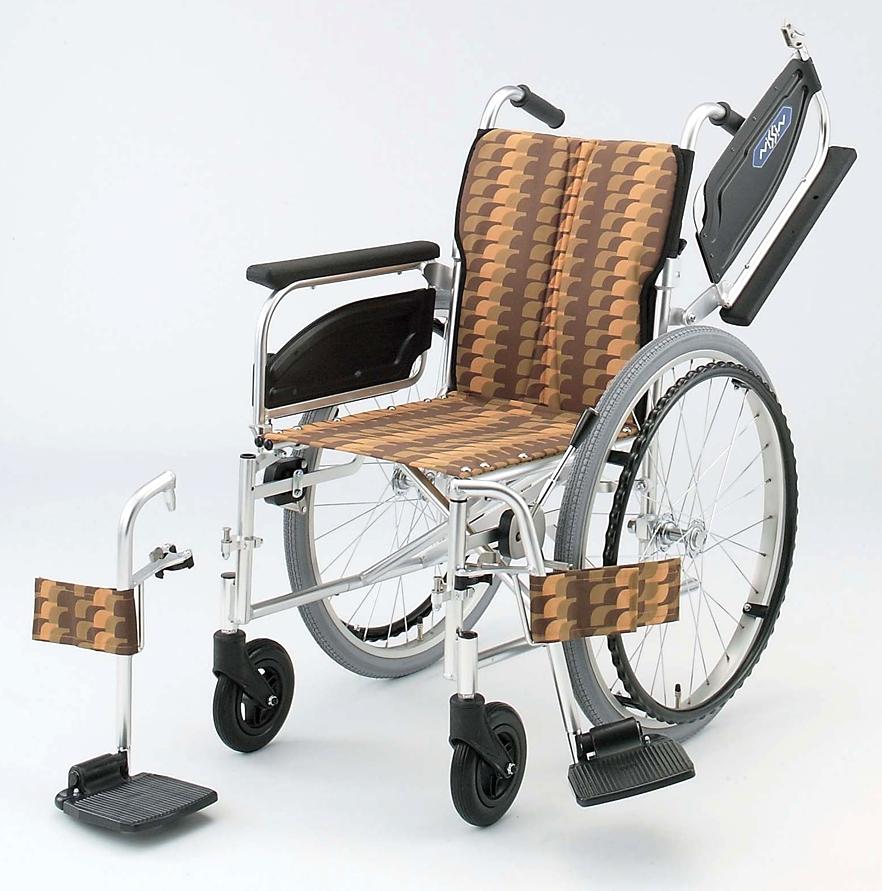 NAH-446W 日進医療器自走用車椅子 背折りたたみアルミ製