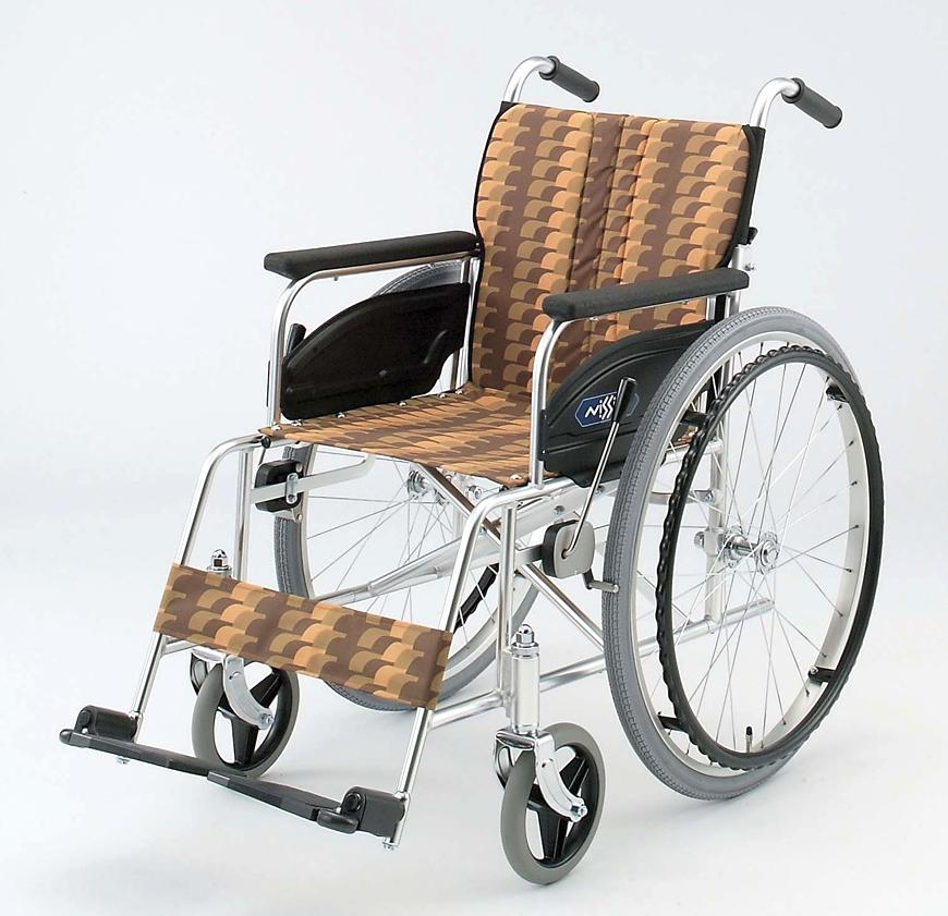 NA-467A 【自走】アルミ製 背折りたたみ 日進医療器