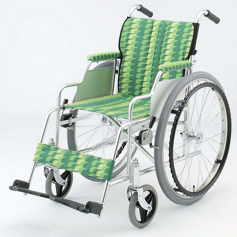NA-467AD 自走用車椅子 背折りたたみ アルミ製 日進医療器