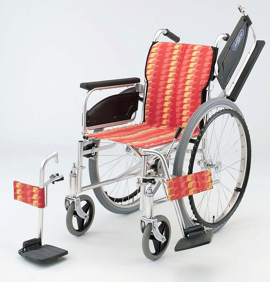NA-467W 日進医療器自走用車椅子 背折りたたみアルミ製