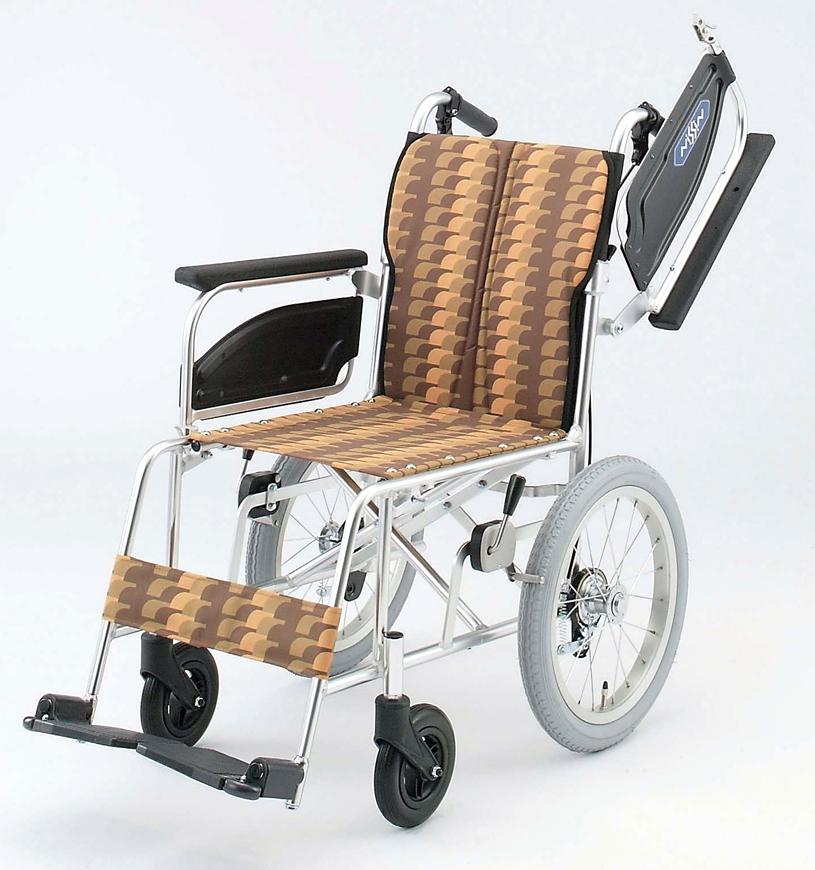 NAH-446U 日進医療器介助用車椅子 背折りたたみアルミ製