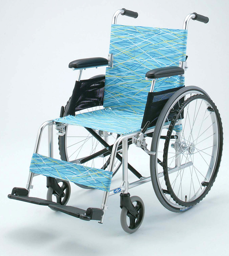 NA-L8 日進医療器 自走用車椅子超軽量 背折りたたみアルミ製