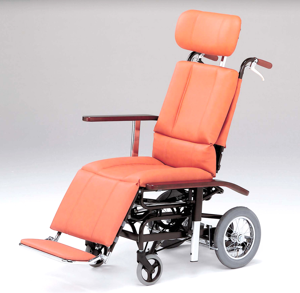 NHR-7 日進医療器 介助用車椅子 ティルト&リクライニング式 スチール製