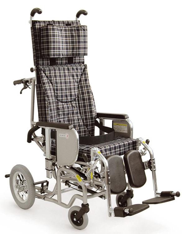 カワムラサイクル製AYK-40ELふくらはぎパッドタイプ[リクライニング車椅子]フルリクライニング機能&ティルティング機能