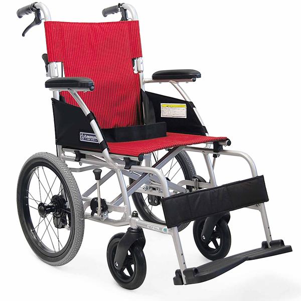 車いす 車イス 車椅子 軽量 折り畳み 送料無料! カワムラサイクル社製BML16-40SB (後輪16インチ中床タイプ)アルミ製介助用車椅子