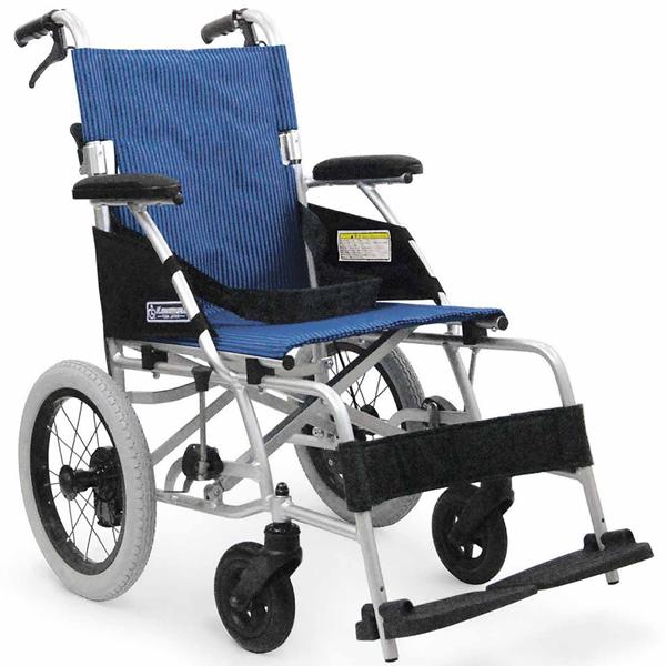 車いす 車イス 車椅子 軽量 折り畳み 送料無料! カワムラサイクル社製BML14-40SB (後輪14インチ中床タイプ)アルミ製介助用車椅子