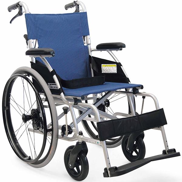 車いす 車イス 車椅子 軽量 折り畳み 送料無料! カワムラサイクル社製BML22-40SB (後輪22インチ中床タイプ)アルミ製自走用車椅子