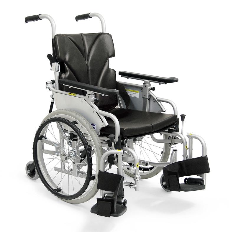 カワムラサイクルKAK18-40-LO室内用 六輪車いす「こまわりくん」【介助ブレーキなし】アルミ製自走用車椅子【車いす 車イス】