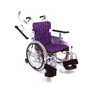 カワムラサイクルKAK18-40B-LO室内用 六輪車いす「こまわりくん」【介助ブレーキ付き】アルミ製自走用車椅子【車いす 車イス】