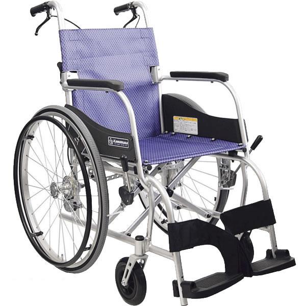 カワムラサイクルKF22-40(42)SBふわりす(KF)シリーズ 自走用車椅子エアタイヤ(軽量)仕様 折りたたみ 座面 背面