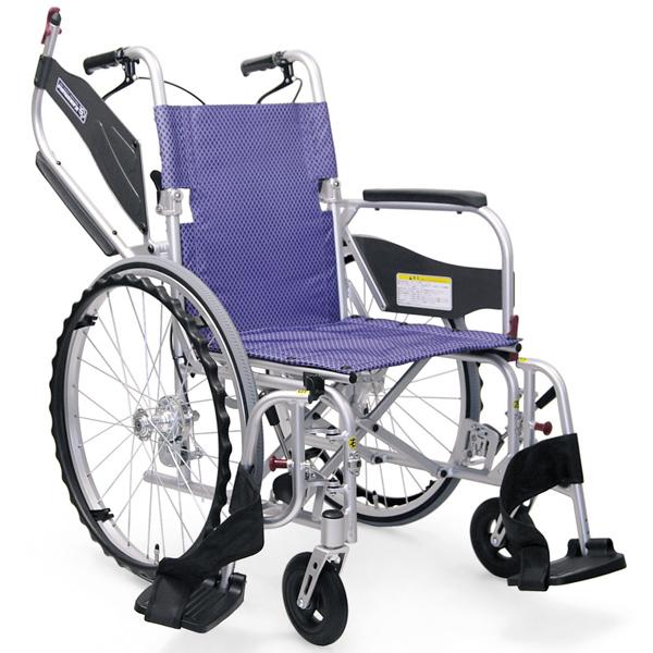 カワムラサイクルKFP22-40(42)SBふわりす(KFP)シリーズ 自走用車椅子エアタイヤ(軽量)仕様 折りたたみ 座面 背面