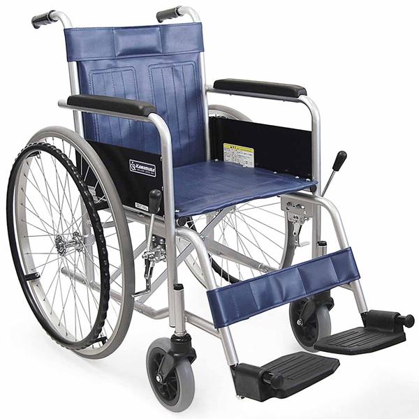 カワムラサイクル製KR801Nソリッドノーパンクタイヤ送料無料!スチール製自走式車椅子【DW0117大激安!】