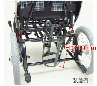 酸素ボンベ架台(KX専用100mm以下)(カワムラサイクル社製車椅子用)