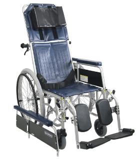 カワムラサイクルRR42-Nフルリクライニング&脚部エレベーティング介助ブレーキ無し・スチール自走用車椅子
