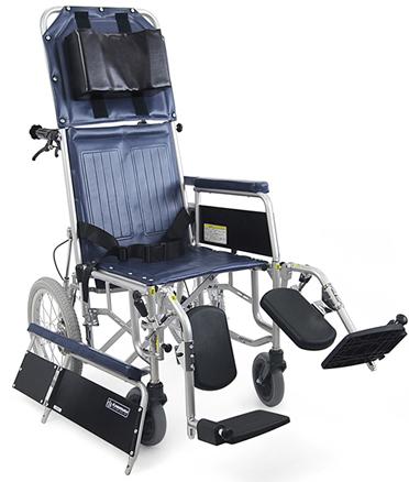 カワムラサイクルRR43-Nフルリクライニング&脚部エレベーティング介助ブレーキ無し・スチール介助用車椅子