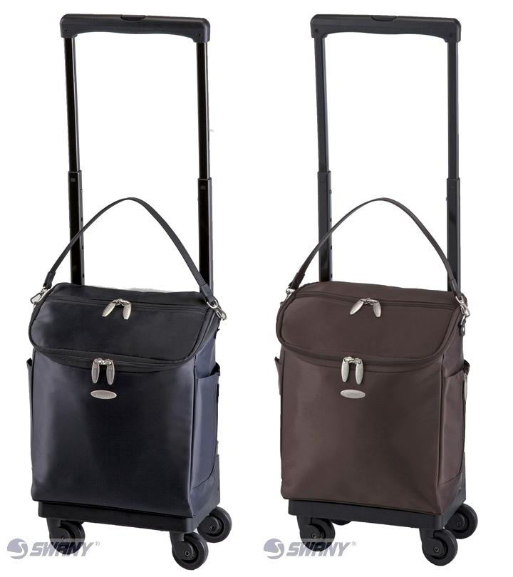 スワニーキャリーバッグ ジップ4歩行補助用品[シルバーカー・歩行器]D-291(M18)