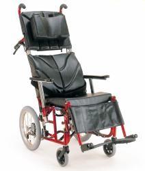 KPF(ぴったりフィット)シリーズ(新リクライニング機構)アルミ製介助車椅子カワムラサイクルKPF16-(40,42)【お役立ちグッズ移動】 【DW0117大激安!】