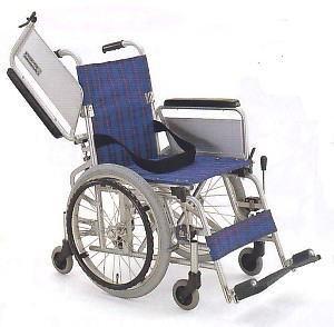 KA(こまわりくん)六輪車シリーズ(介助ブレーキ無し)アルミフレーム自走式車椅子カワムラサイクル製KAK18-40(こまわりくん18)