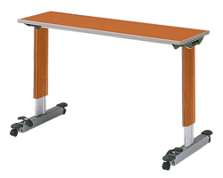 パラマウントベッド製テーブル移動ロック機能付きオーバーベッドテーブル(色:チェリー)【お役立ちグッズ睡眠】KF-833LC