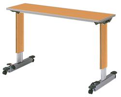パラマウントベッド製テーブル移動ロック機能付きオーバーベッドテーブル(色:ミディアムオーク)【お役立ちグッズ睡眠】KF-833LB