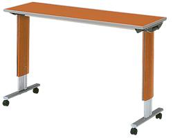 パラマウントベッド製テーブル移動ロック機能なしオーバーベッドテーブル(色:チェリー)【お役立ちグッズ睡眠】】
