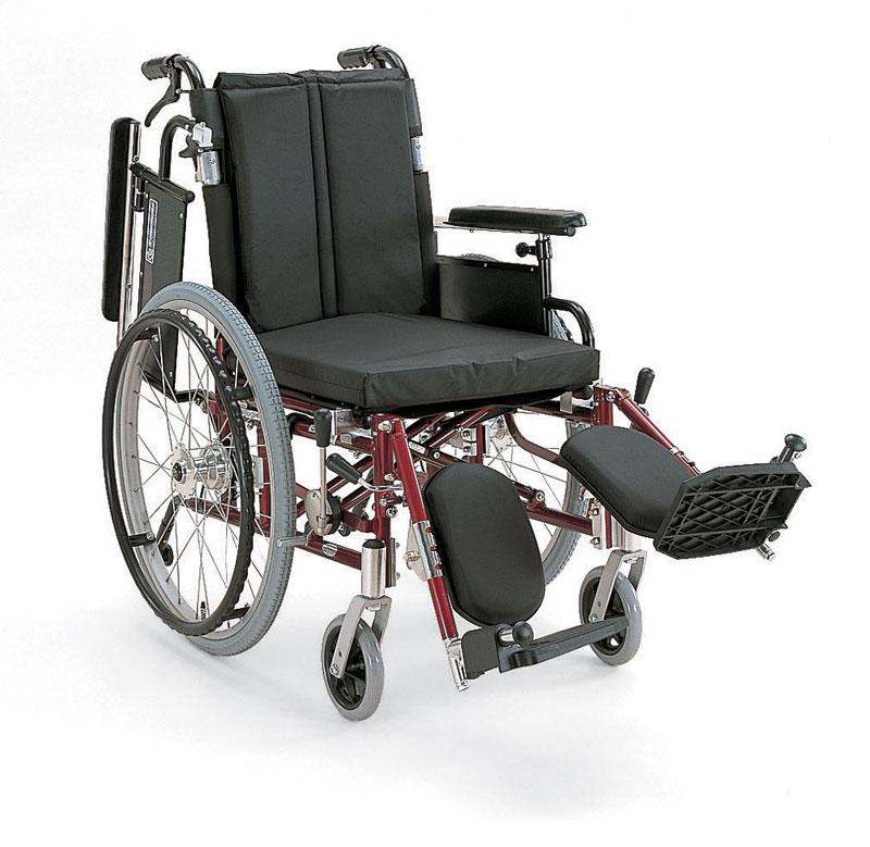 カワムラサイクル社製KA722-40(38・42)ELB-M送料無料!アルミ自走用車椅子中床タイプ、脚部エレベーティングタイプ
