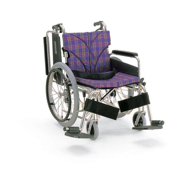 カワムラサイクル KA820-40(38・42)B-SLアルミ製自走用車椅子機能=肘掛け跳ね上げ式・脚部スイングイン&アウトバンド式介助ブレーキ装備
