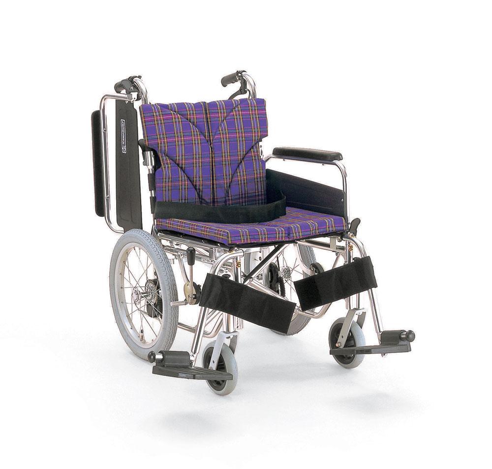 カワムラサイクル社製KA816-40(38・42)B-Mアルミ製介助用車椅子