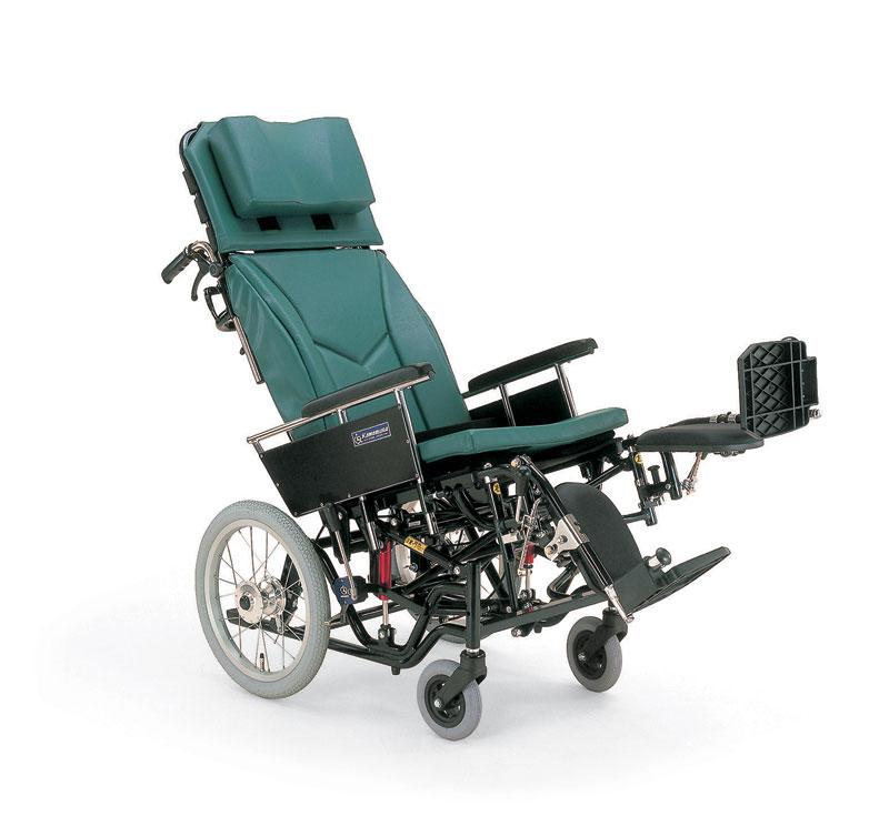 カワムラサイクルKX16-42ELティルティング&リクライニングアルミ合金製介助用車椅子