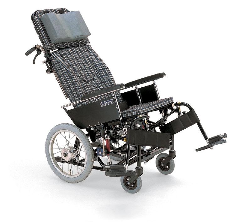 カワムラサイクルKX16-42Nティルティング&リクライニングアルミ合金製介助用車椅子
