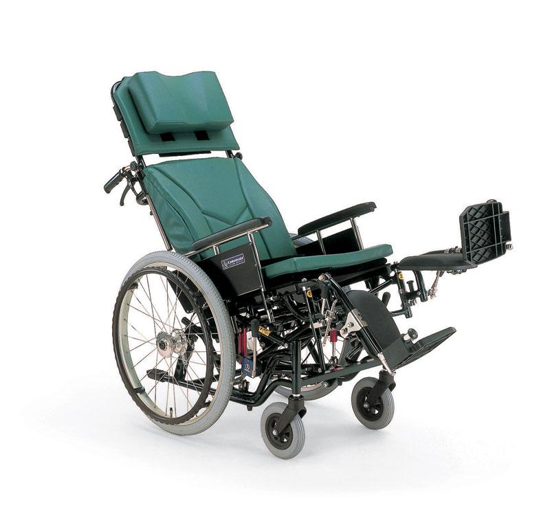 カワムラサイクルKX22-42ELティルティング&リクライニング機能&脚エレベーティング機能アルミ合金製自走用車椅子