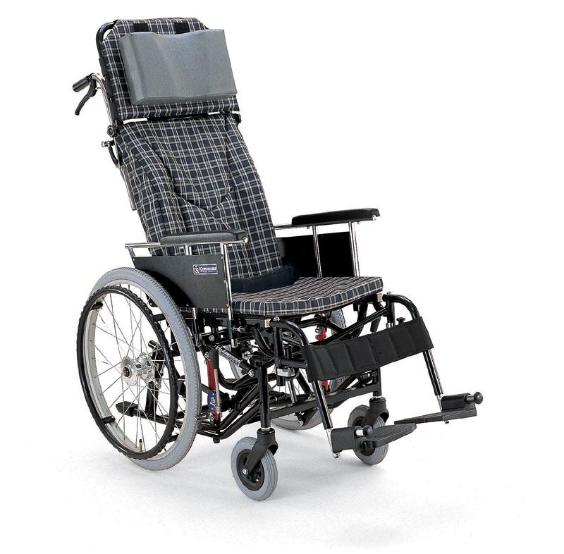 カワムラサイクルKX22-42Nティルティング&リクライニング機能付き自走用車椅子