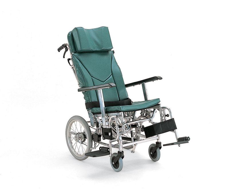 カワムラサイクルKXL16-42ティルティング&リクライニングバンド式介助ブレーキハイポリマータイヤ仕様・アルミ合金製車椅子