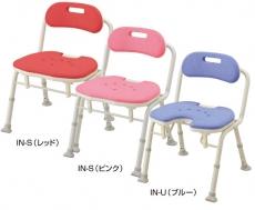 【介護用 風呂椅子】 安寿折りたたみシャワーベンチ IN-S(背付タイプ)(IN-U廃盤) 《入浴用品》