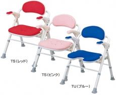 【介護用 風呂椅子】 安寿折りたたみシャワーベンチ TS/TU(色:ピンク廃盤) 《入浴用品》