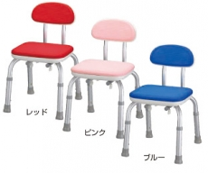 【介護用 風呂椅子】 安寿背付シャワーベンチ Mini(色:ピンク:廃盤) 《入浴用品》