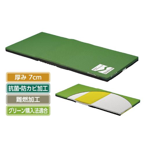 (介護ベッド用)パラマウントベッドストレッチスリムマットレス 通気タイプ[91cm(幅)×191cm(長)×7cm(厚)] (スタンダードマットレス)