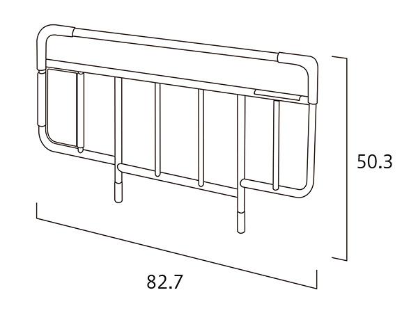 是PARAMOUNT BED制造床侧轨(长度)82.7.(总高度)50.3cm*1部学分的销售。 型号KS-191Q
