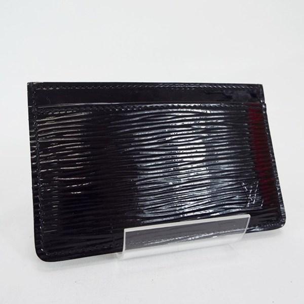 ルイ ヴィトン エピ ポルトカルト サーンプル 名刺入れ カードケース ノワール エレクトリック(黒)M6030N 中古 Aランク LOUIS VUITTON メンズ 箱付き 美品