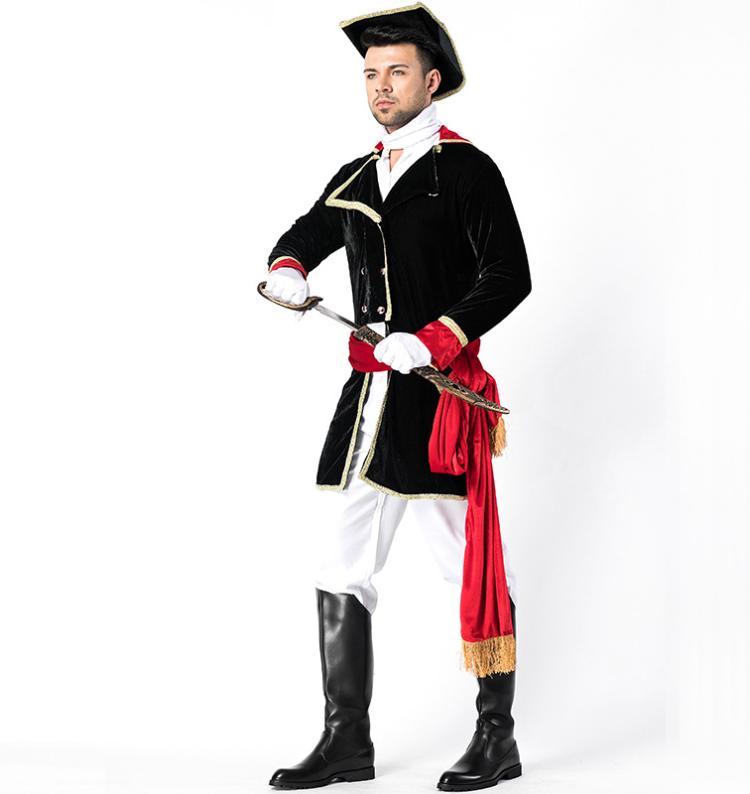ハロウィン コスチューム 制服 セット 帽子 メンズ パイレーツ パーティー 欧米風 制服 cos クリスマス イベント ステージ衣装 演出服 変装