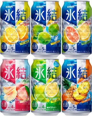 氷結ならではのシャッキッとみずみずしい果汁感 キリン 即納送料無料 氷結 よくばりパック レモン 評判 GF 350ml×24本 ウメ もも サワーレモン パイナップル各4缶