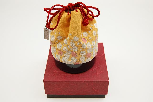 七五三(3歳女の子用)-花がたみ ちりめん巾着 箱付き K-2