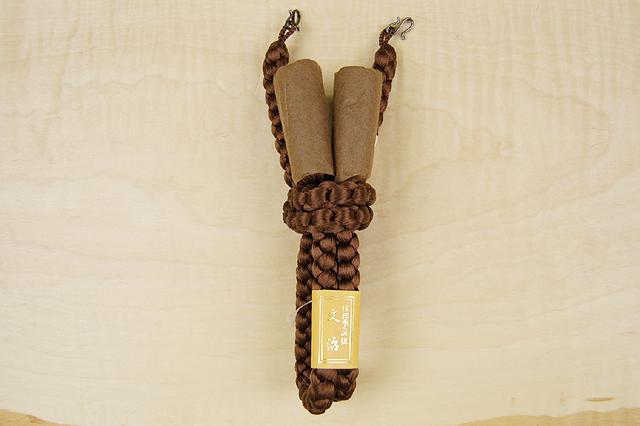 正絹高級手組み羽織紐-茶 T-3 送料無料