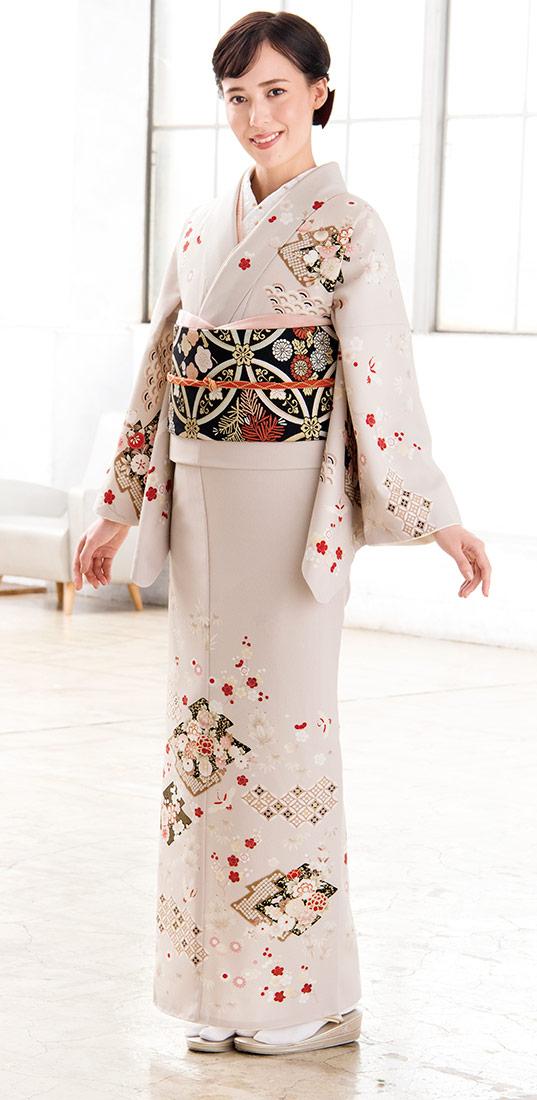 着物 訪問着 ジャパンスタイル 仕立て上がり 洗える着物 JL-61「着物 訪問着 結婚式 きもの 女性 レディース」