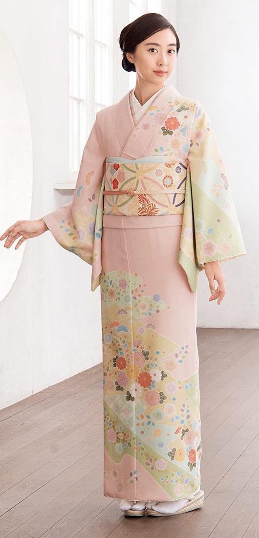 着物 訪問着 ジャパンスタイル 仕立て上がり 洗える着物 JL-65 「着物 訪問着 結婚式 きもの 女性 レディース」