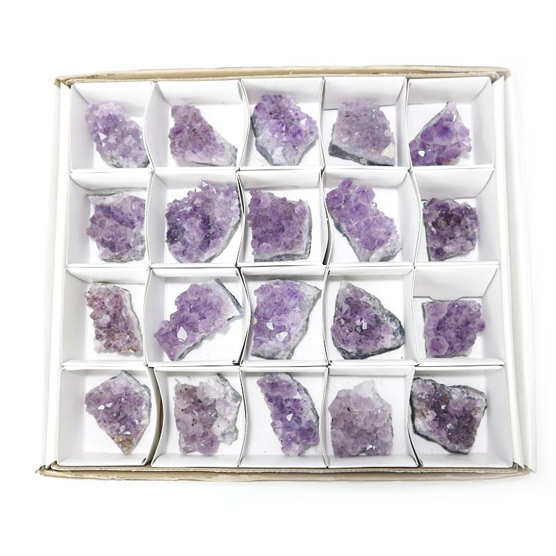 アメジスト(紫水晶)クラスター20個入りセット〔ブラジル産〕